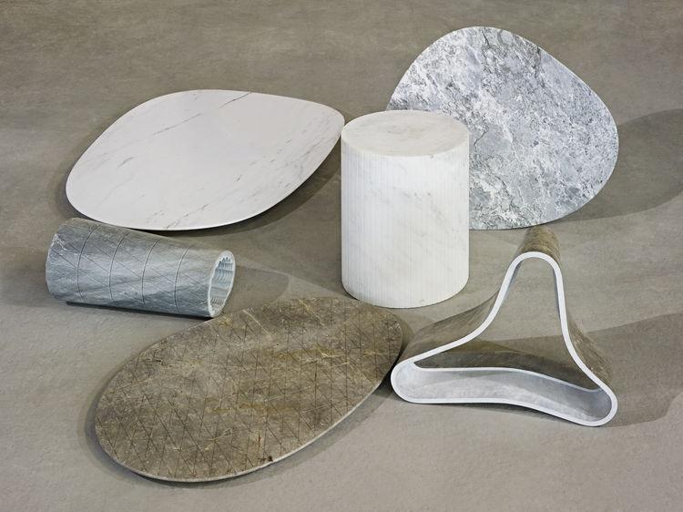 solid patterns luce di carrara scholten baijings tables