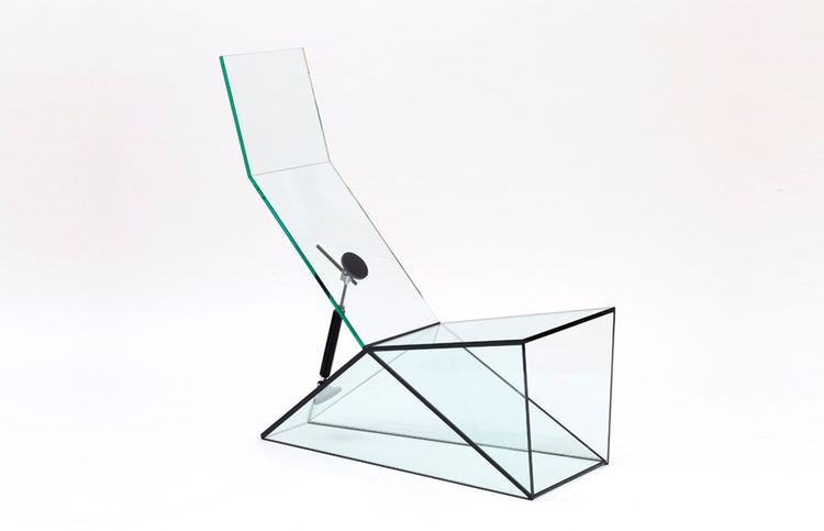 "Glass Chair for ""Man Machine"" Exhibition at Galerie kreo"