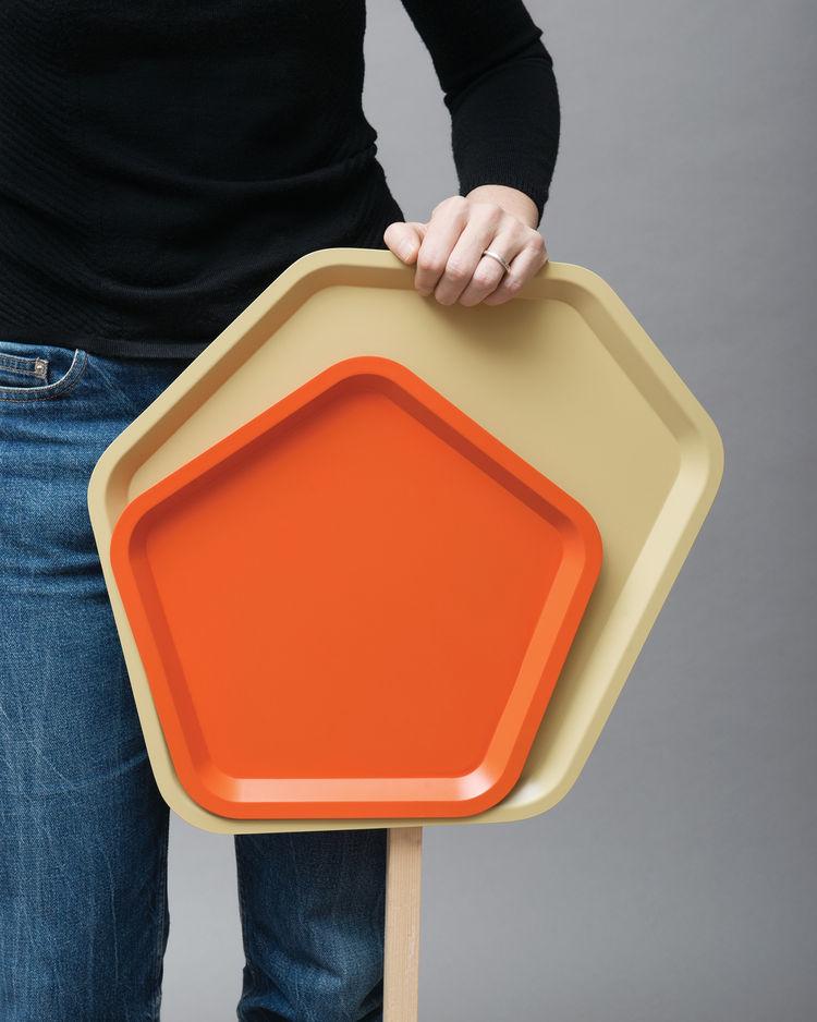 orange and yellow trays by Matali Crasset