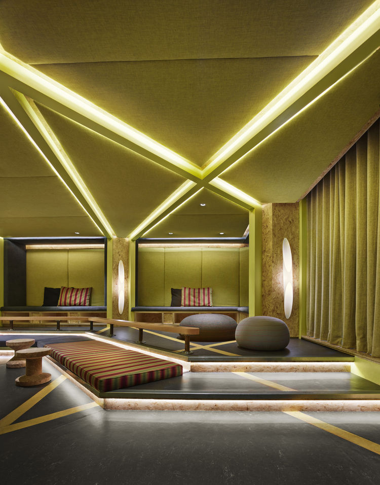 Generator London hostel bright lounge lights