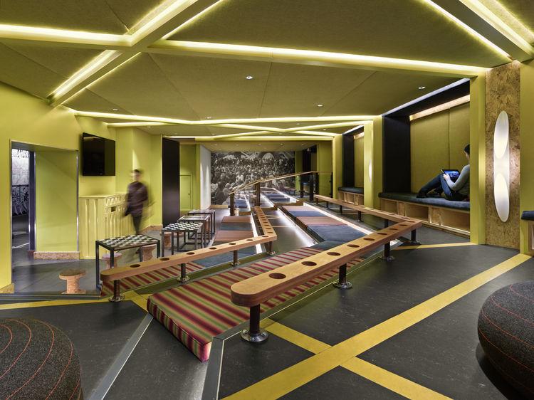 Generator London bright screening room hostel