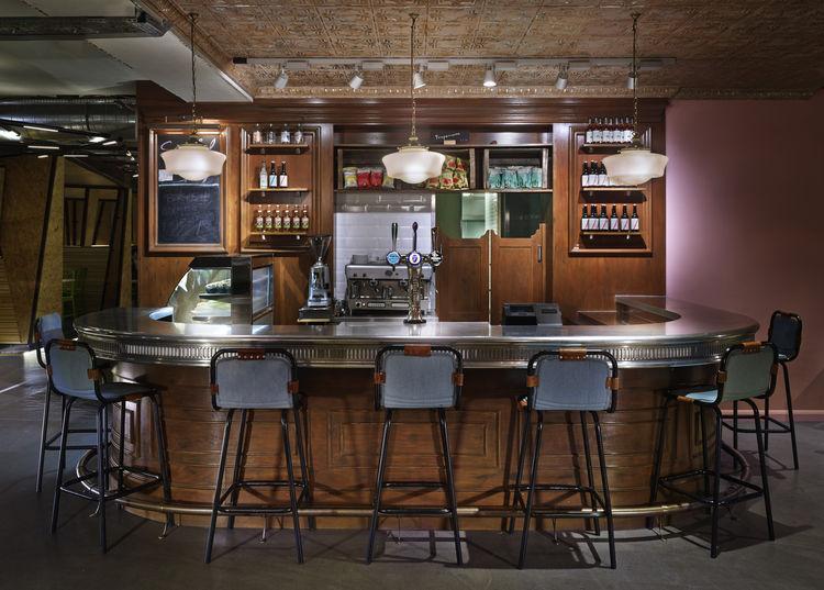 Generator London Cafe zinc bar