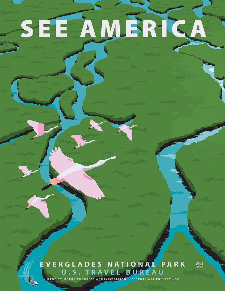 see america everglades poster