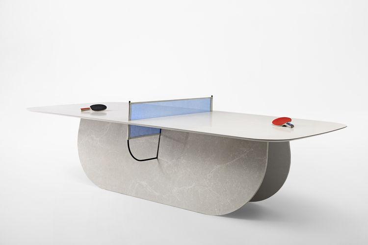 caesarstone Milan Raw Edges Islands ping pong table