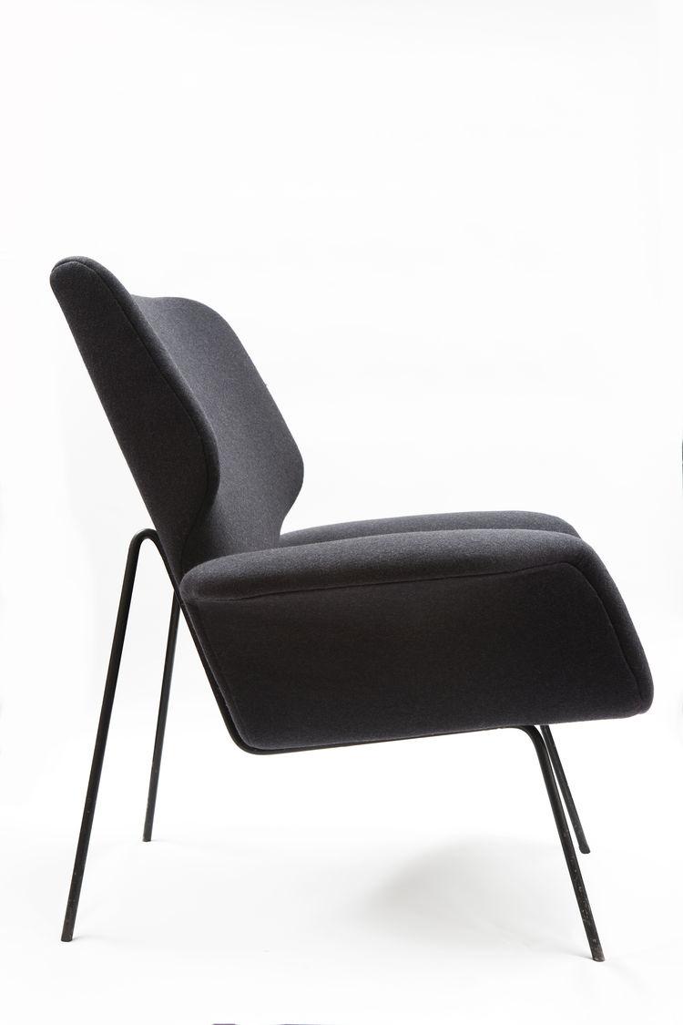 alvin lustig chair black upholstered