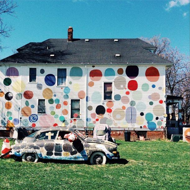 dwell instagram detroit dotty wotty heidelberg project house polka dots