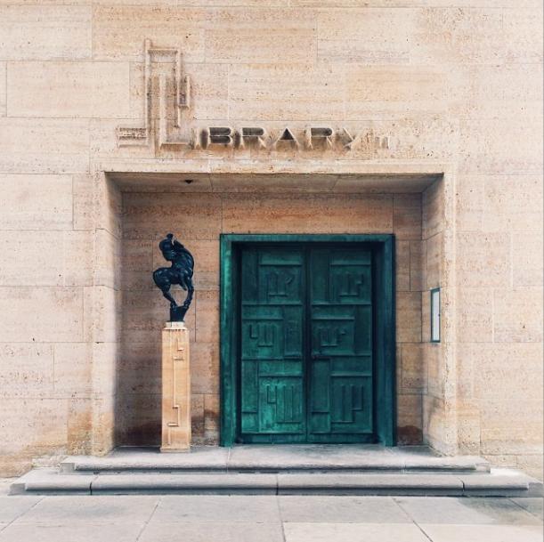dwell instagram michigan cranbrook academy of art library entrance