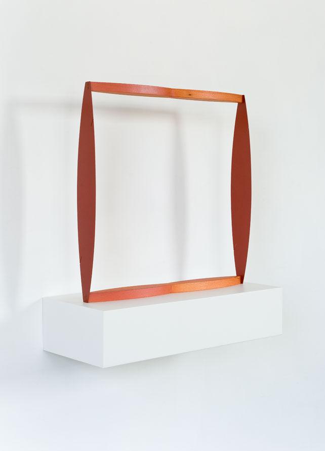 Matt Paweski studio visit sculpture square red