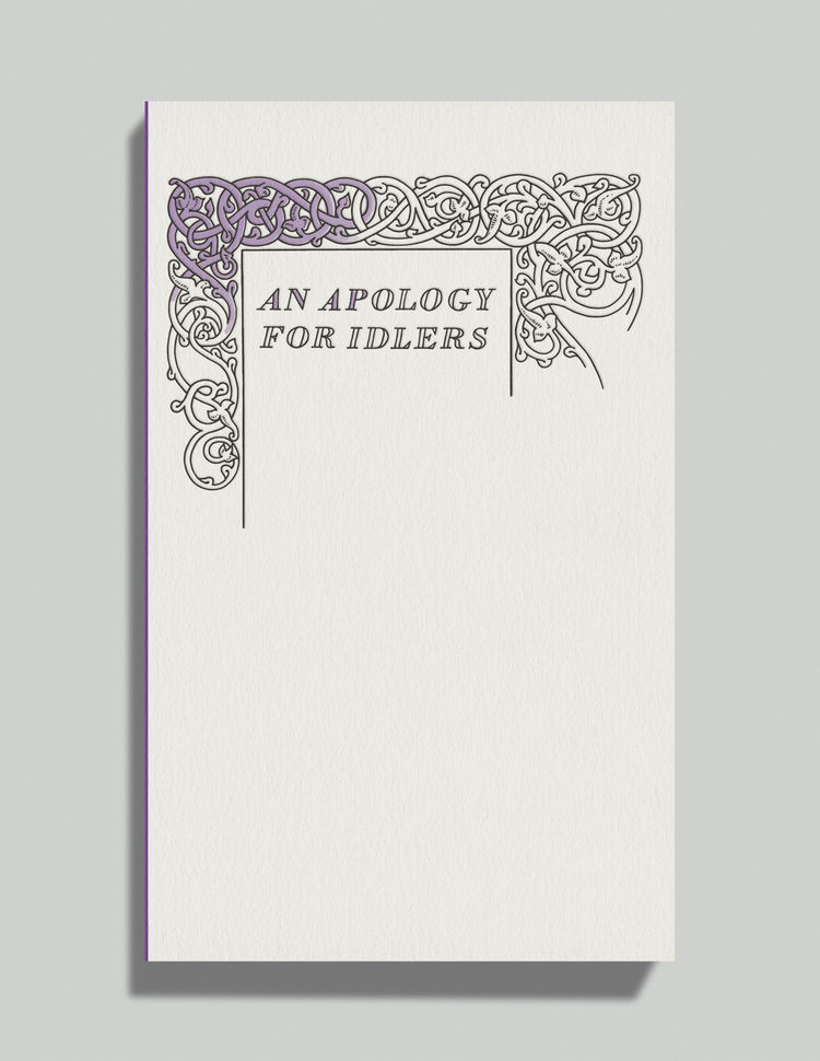 An Apology for Idlers by Robert Louis Stevenson david pearson book cover