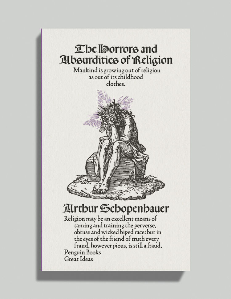 Horrors and Absurdities of Religion by Albert Schopenhauer david pearson book cover