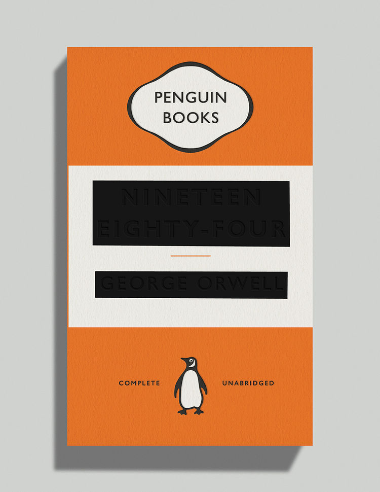 Nineteen Eighty-Four by George Orwell book cover david pearson