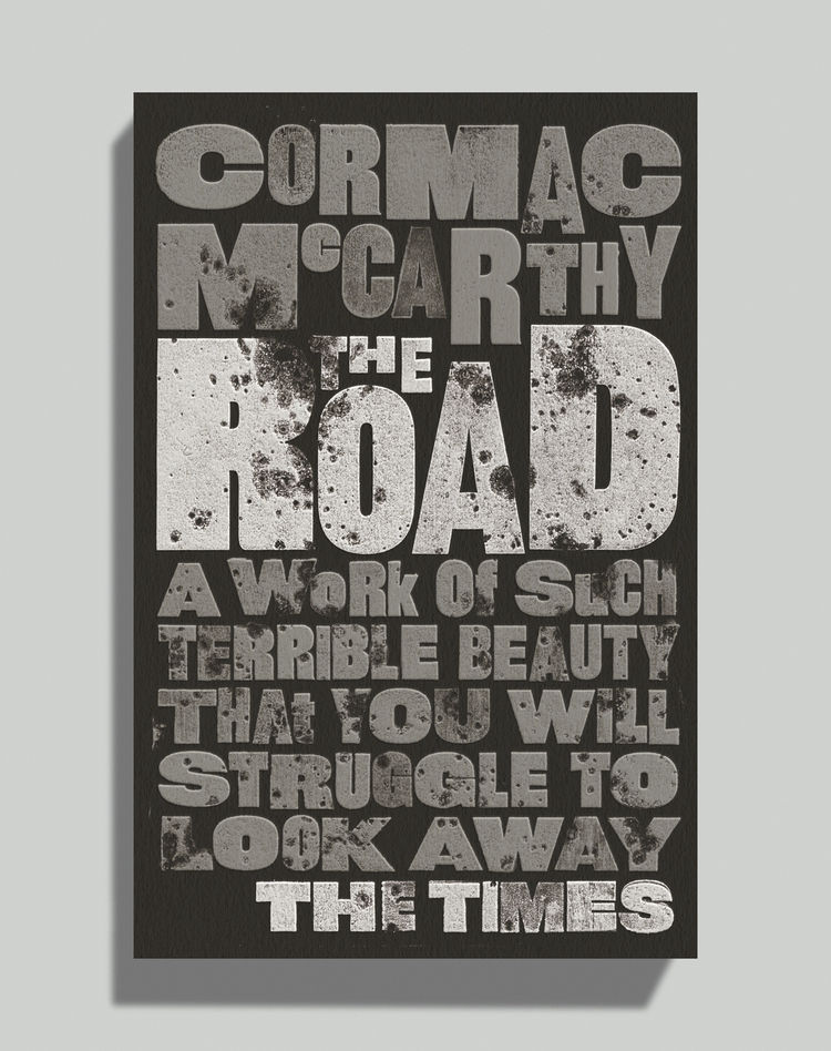 the Road by Cormac McCarthy david pearson book cover