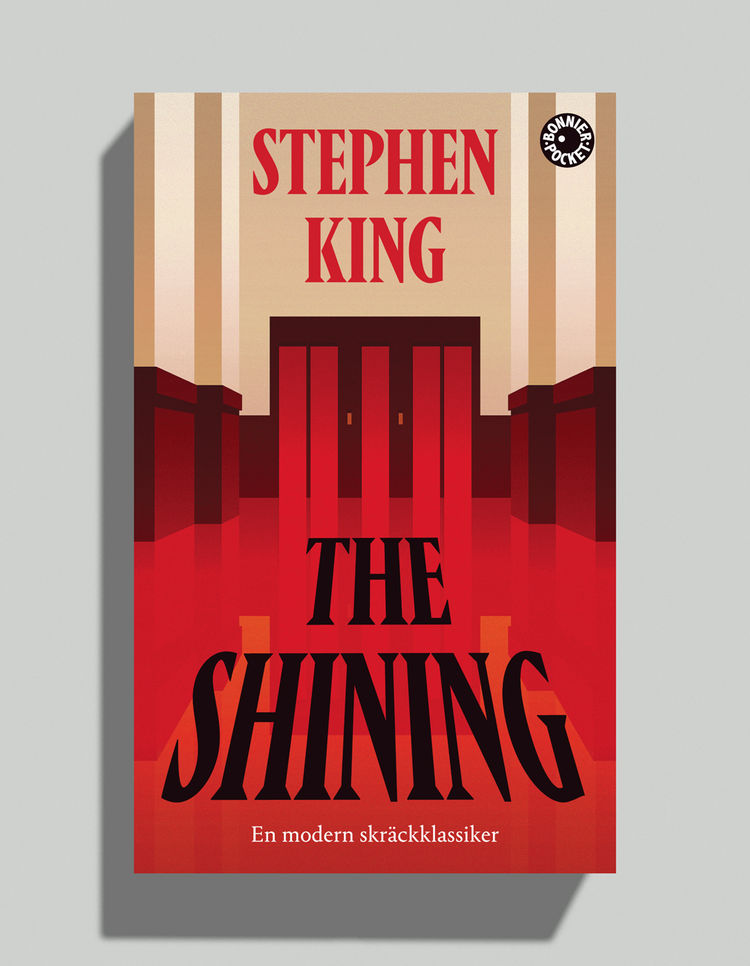 The Shining by Stephen King david pearson book cover