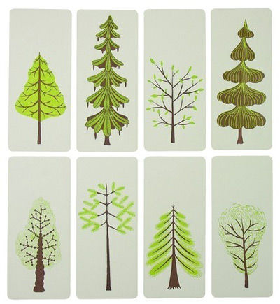 Yeehaw mini trees letterpress cards