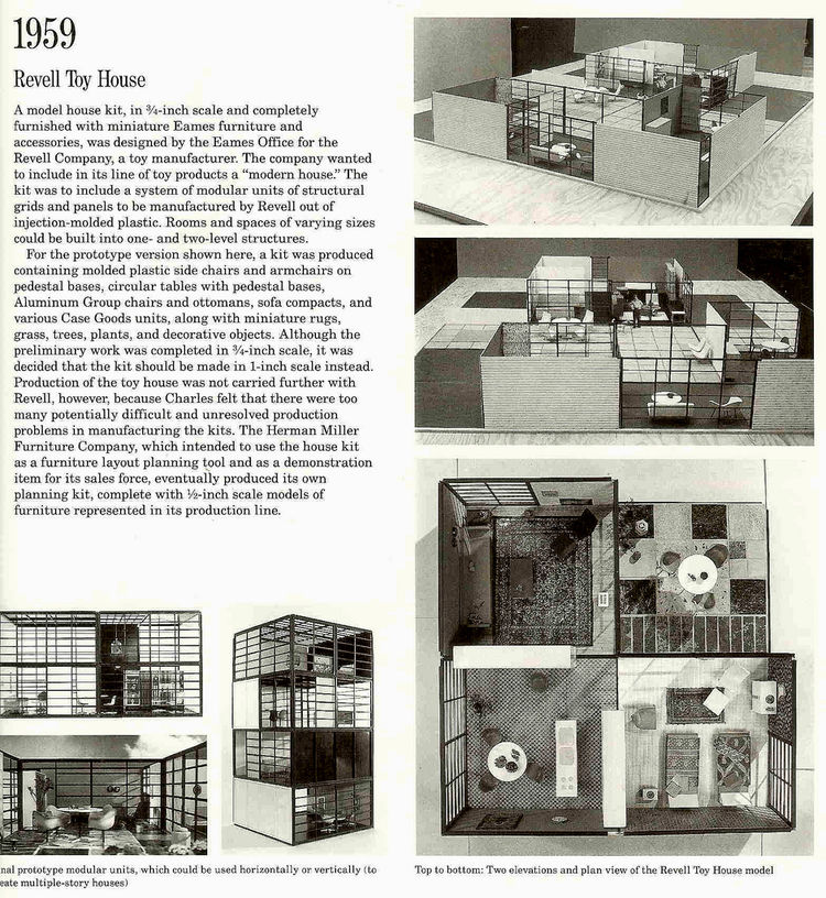 eames revell toy house kit 1959