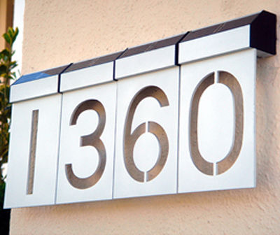 LED Solar Numbers by Matterinc