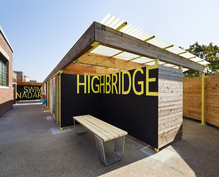 parsons highbrdige graphic sign outdoor pool area