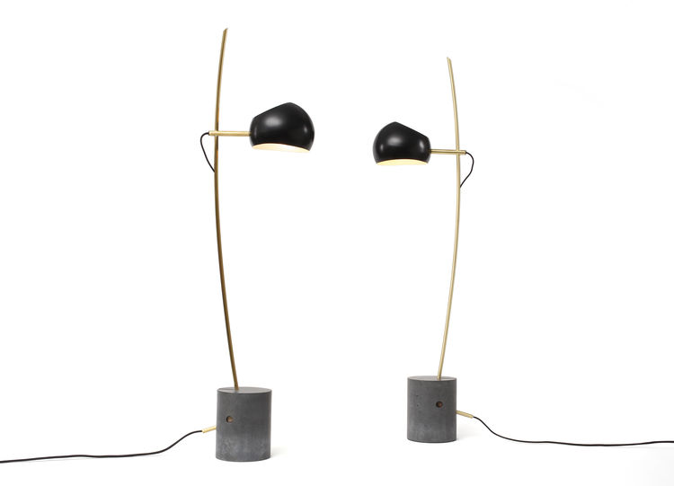 david weeks fenta lamp black with metal and conrete details