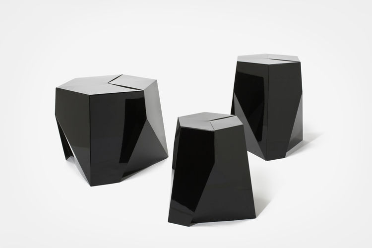 folha gemlike black tables by david weeks