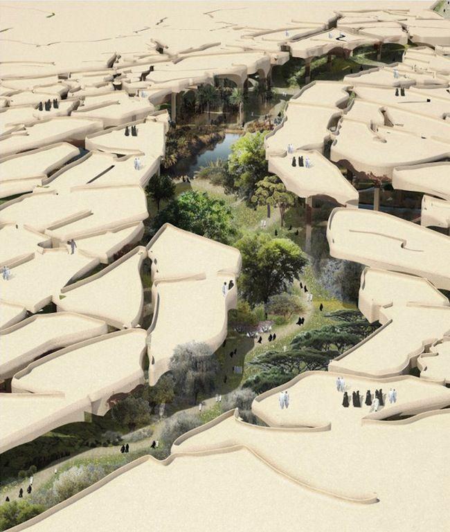Al Fayah cracked desert landscape