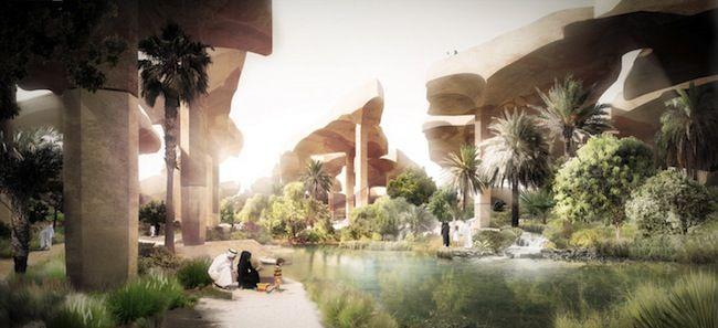 Al Fayah desert garden rendering