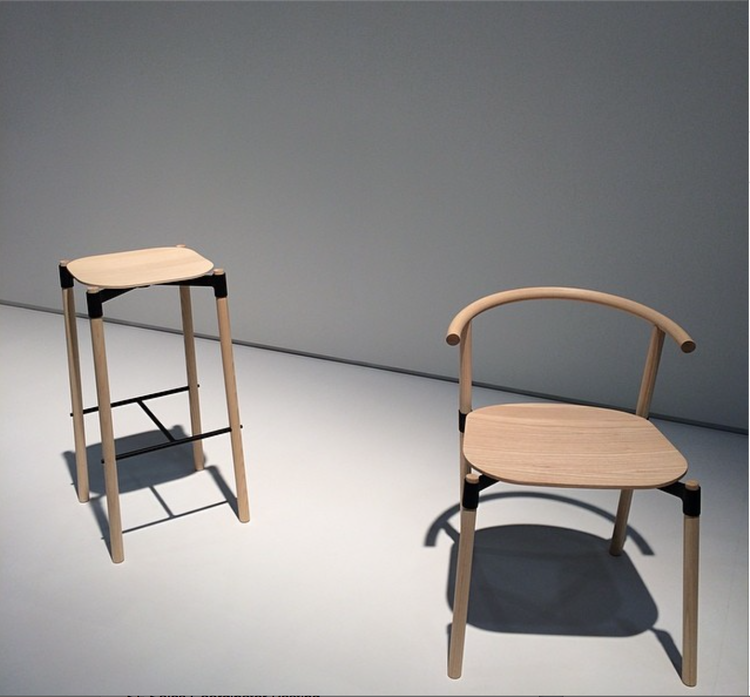 dwell instagram wooden stool and bench norwegian icff 2014