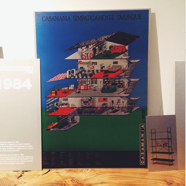 casamania graphic poster from 1984 at icff