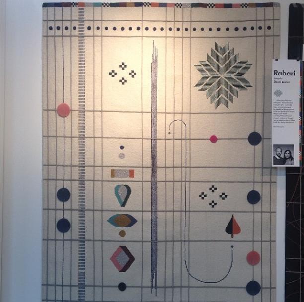 nanimarquina doshi levein geometric rug at icff