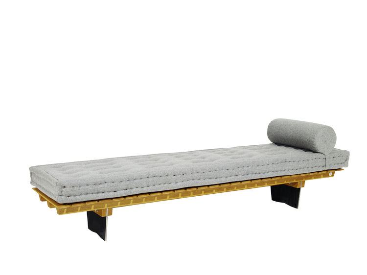 gray midcentury daybed by lichterloh