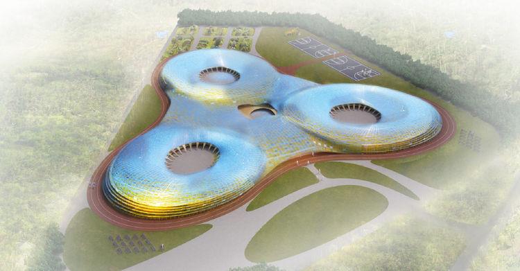mat-ter school concept bird's eye view