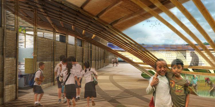 mat-ter school concept bamboo