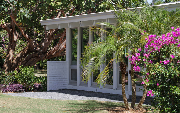 palm beach house exterior garden