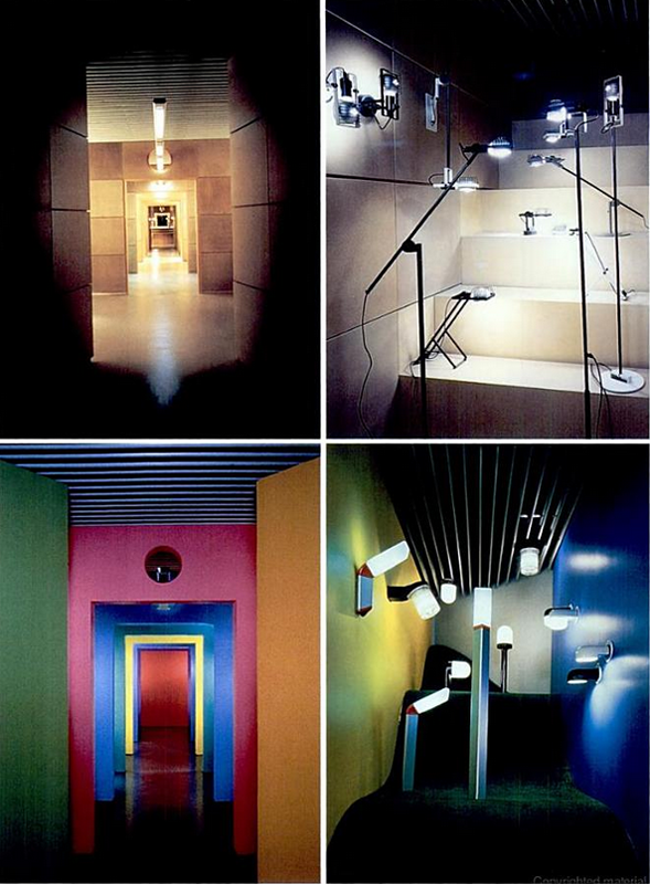 Massimo Vignelli Artemide Dallas New York interior design showroom lighting