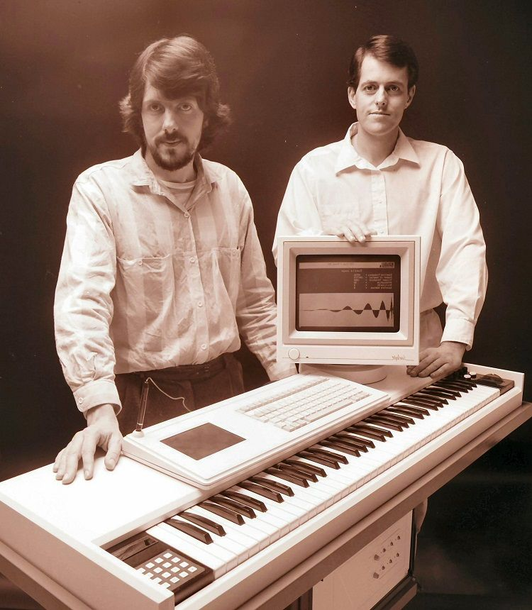 Fairlight CMI Series III and Designers Peter Vogel and Kim Ryrie