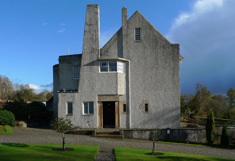 modern Scottish Hill House by charles rennie mackintosh