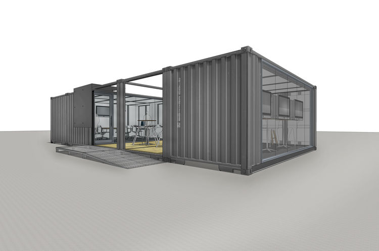 Modern prefabs made from ISO containers