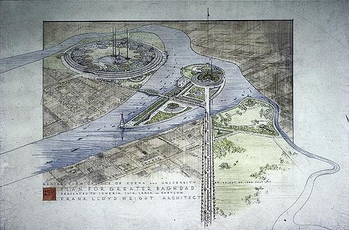 Frank Lloyd Wright's plans for a cultural center in Baghdad