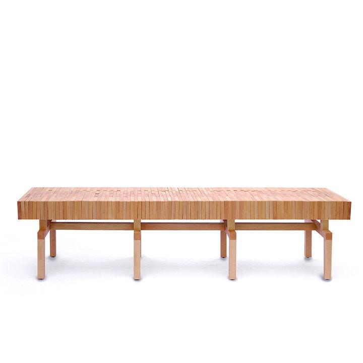 wooden block chair