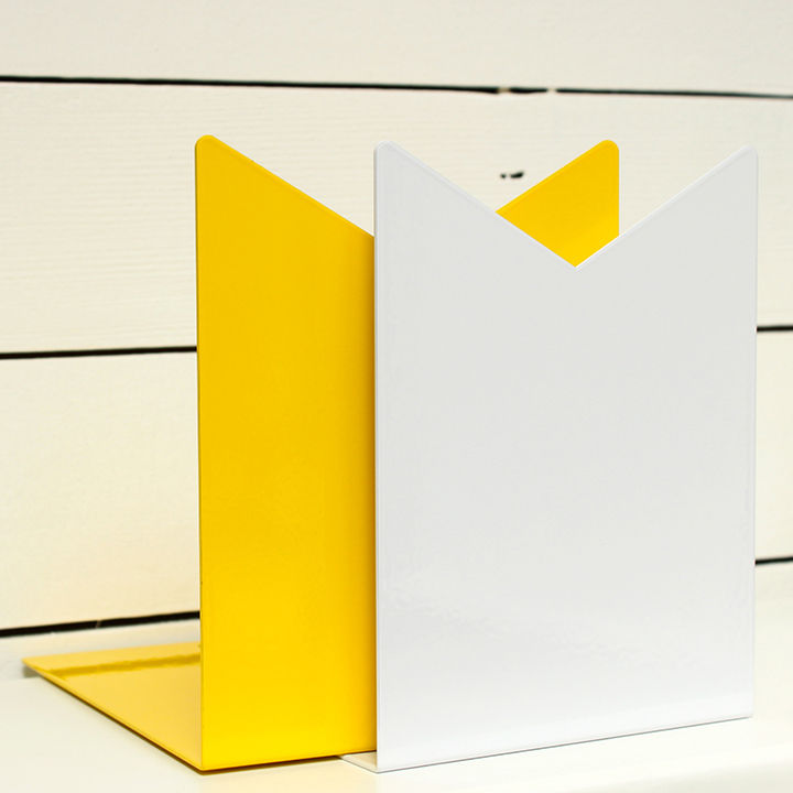 white yellow ribbon bookend