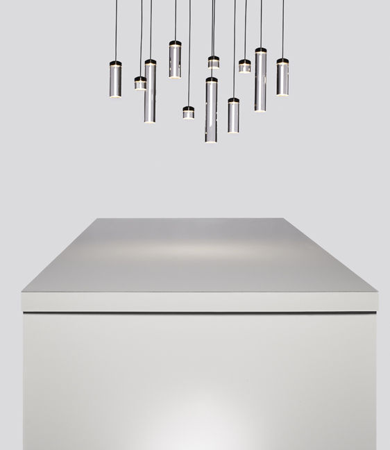 Vessel Pendant Lamp by Todd Bracher for 3M at NeoCon 2014