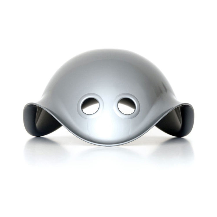Silver toy that looks futuristic