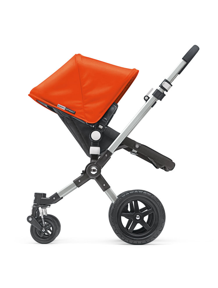 Modern orange baby stroller