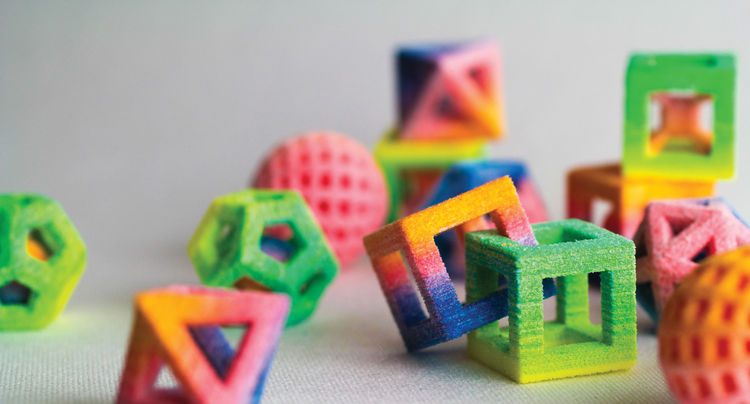 Neon, geometric, 3-D printed candy