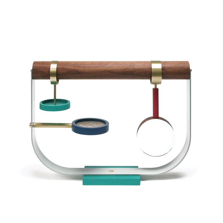 Modern jewelry stand with hooks for hanging jewelry