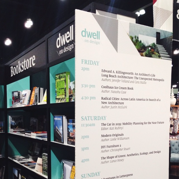 dwell bookstore with book signings at dwell on design
