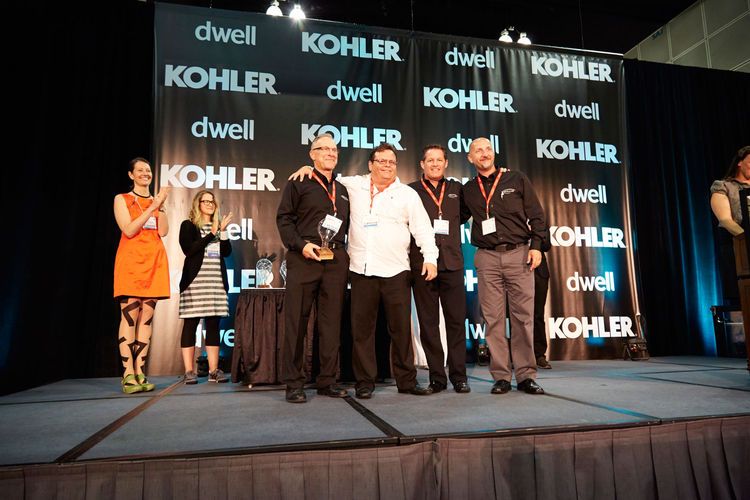 Award winners on stage at Dwell on Design