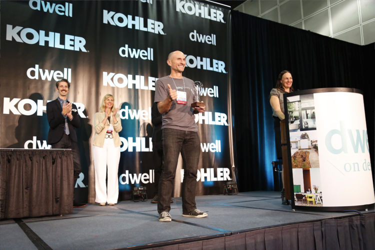 Award winners onstage at Dwell on Design