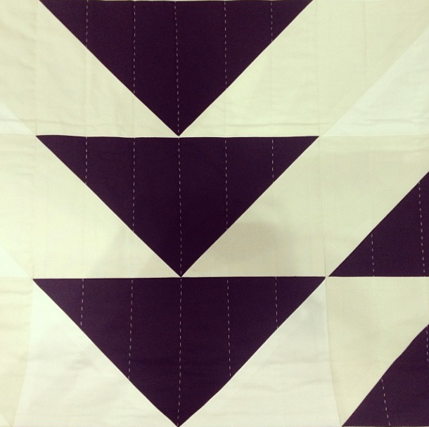 black and white geometric quilt at dwell on design