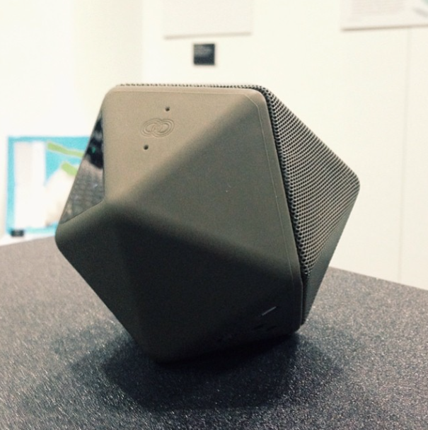 geometric boom boom portable speaker at dwell on design