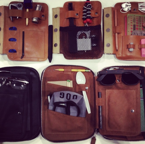 leather tech gear organizers at dwell on design